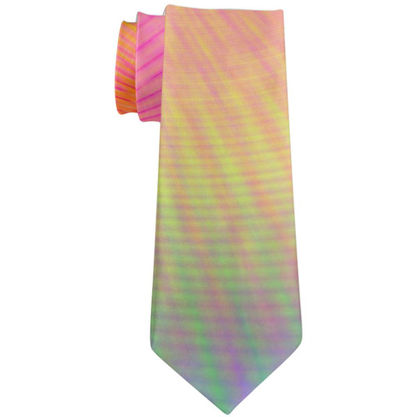 EDM Pastel Unicorn Rainbow Spiral All Over Neck Tie
