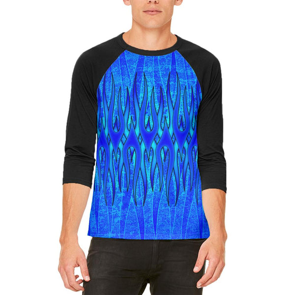 The Eternal Blue Flame Mens Raglan T Shirt