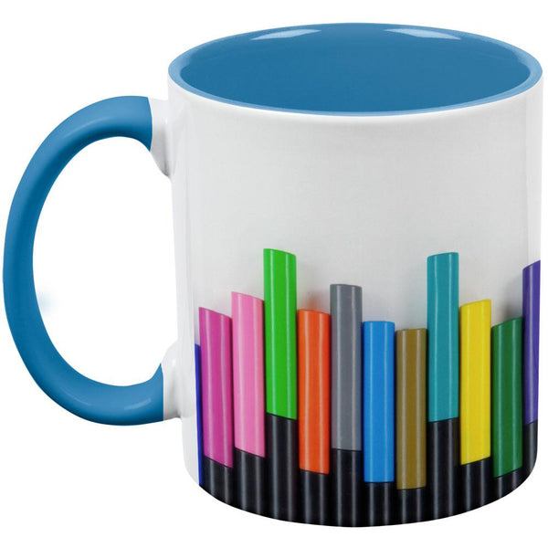 Artist Marker Markers Aqua Handle Coffee Mug