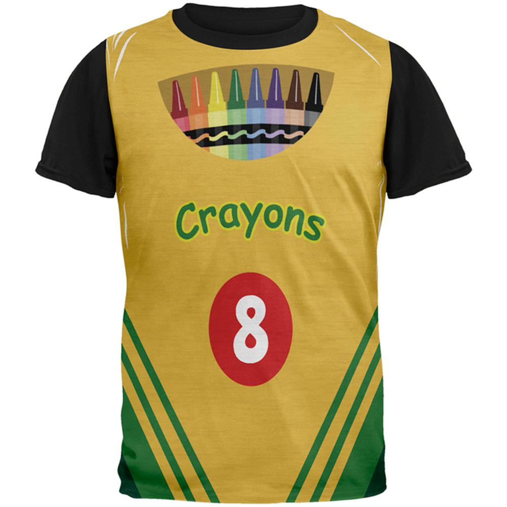 3c426622 Halloween Crayon Box Costume All Over Mens Black Back T Shirt ...
