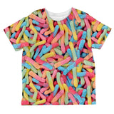 Halloween Sour Gummy Worms All Over Toddler T Shirt