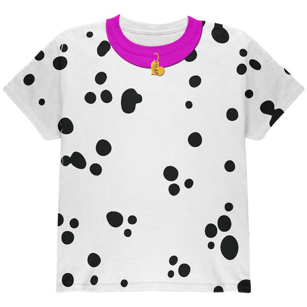 Valentine's Day Dog Dalmatian Costume Pink Collar Be Mine All Over Youth T Shirt