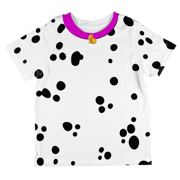 Valentine's Day Dog Dalmatian Costume Pink Collar Be Mine All Over Toddler T Shirt