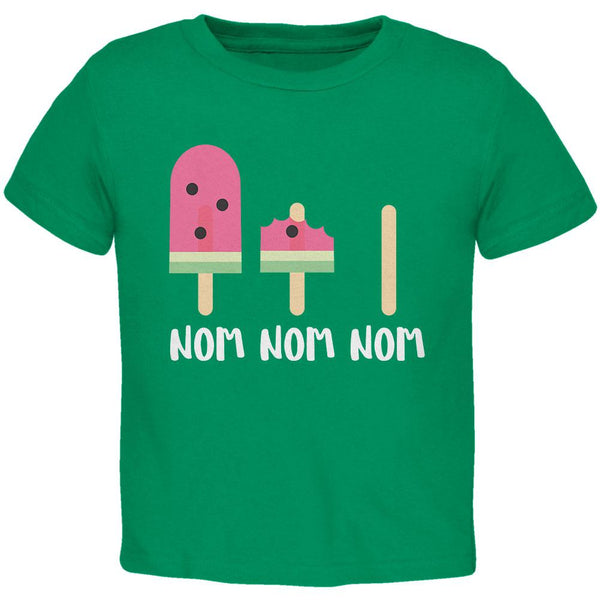 Summer Sun Ice Pop Watermelon Nom Nom Nom Toddler T Shirt