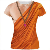 Halloween Buddhist Monk Costume All Over Juniors T Shirt