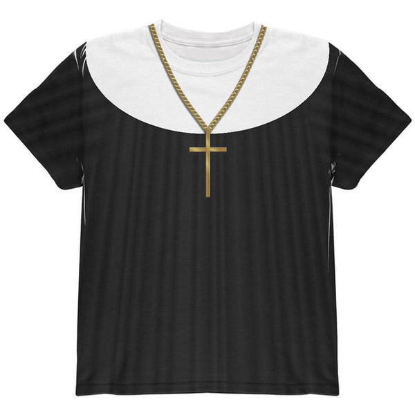 Halloween Nun Habit Costume All Over Youth T Shirt