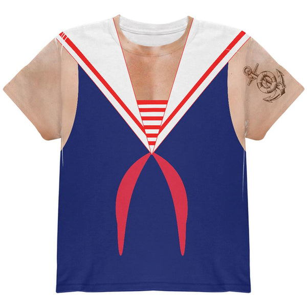 Halloween Sailor Man Costume All Over Youth T Shirt