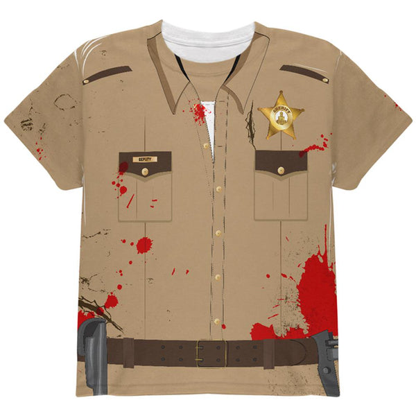 Halloween Zombie Grime Sheriff Walker All Over Youth T Shirt