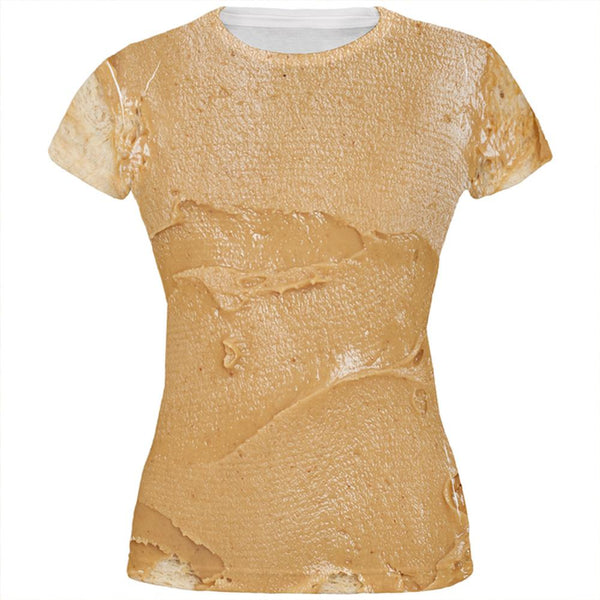 Halloween Peanut Butter PB Sandwich Costume All Over Juniors T Shirt