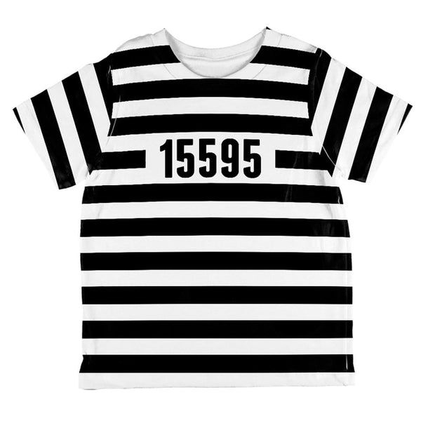 Halloween Prisoner Old Time Striped Costume All Over Toddler T Shirt