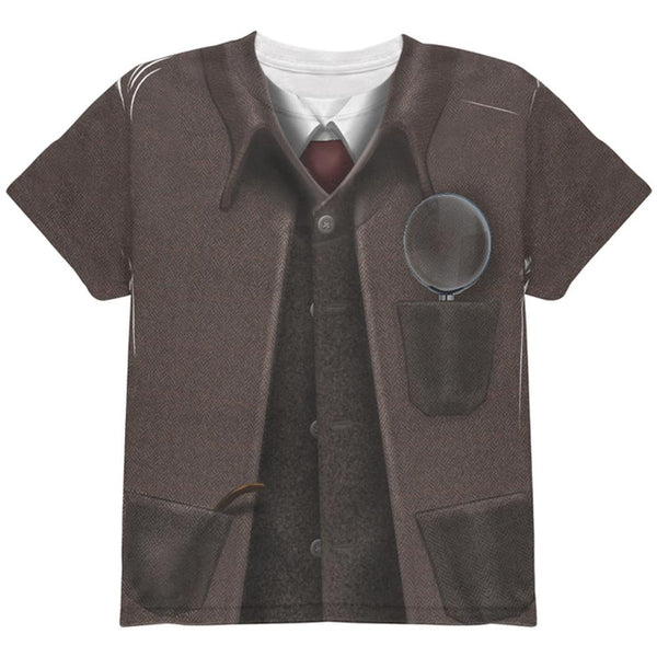 Halloween Sherlock Holmes Costume All Over Youth T Shirt