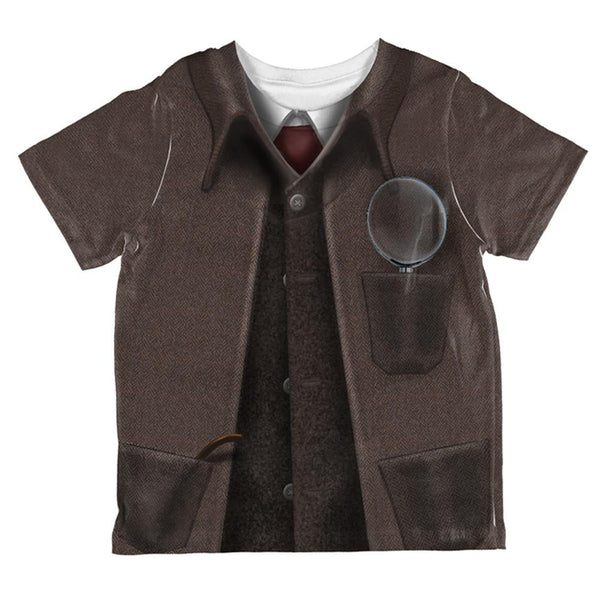 Halloween Sherlock Holmes Costume All Over Toddler T Shirt