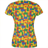 Halloween Building Blocks Costume All Over Juniors T Shirt