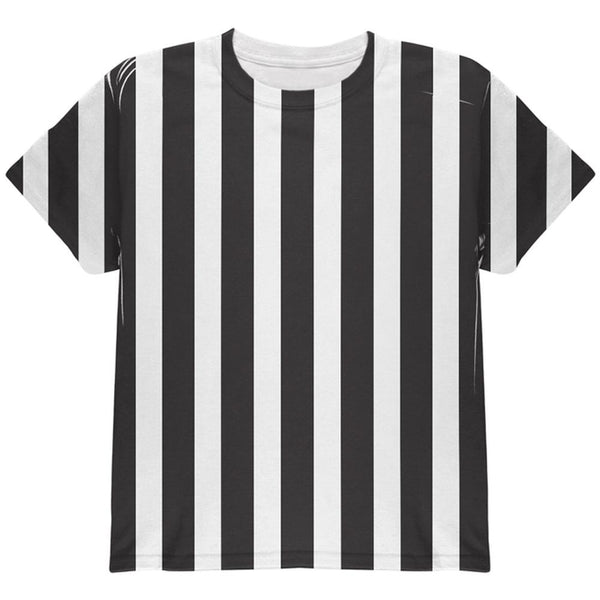 Halloween Referee Costume All Over Youth T Shirt