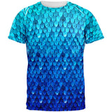 Halloween Blue Frost Dragon Rider Armor All Over Mens T Shirt