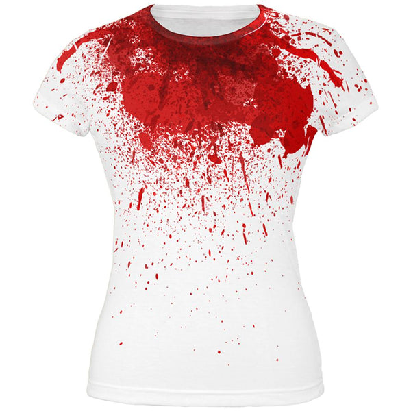 Halloween Horror Movie Victim Decapitation All Over Juniors T Shirt
