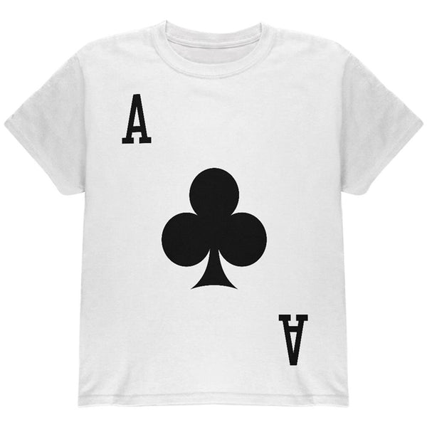 Halloween Ace of Clubs Card Soldier Costume All Over Youth T Shirt