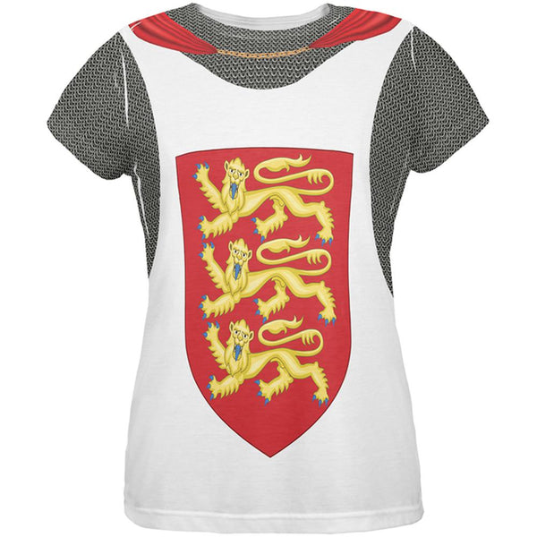 King Richard Lionheart Knight Costume All Over Womens T Shirt