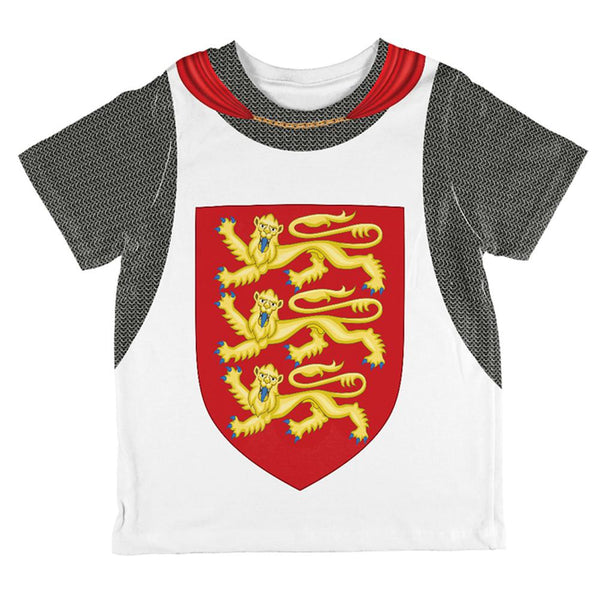 King Richard Lionheart Knight Costume All Over Toddler T Shirt