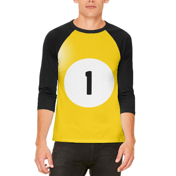 Halloween Billiard Pool Ball One Costume All Over Mens Raglan T Shirt