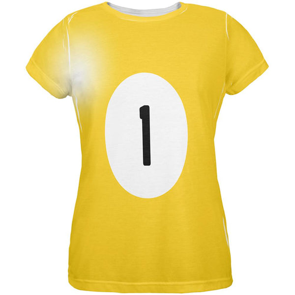 Halloween Billiard Pool Ball One Costume Womens T Shirt