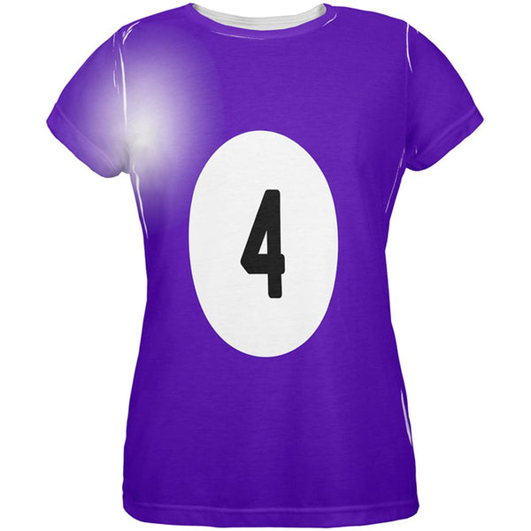 Halloween Billiard Pool Ball Four Costume Womens T Shirt