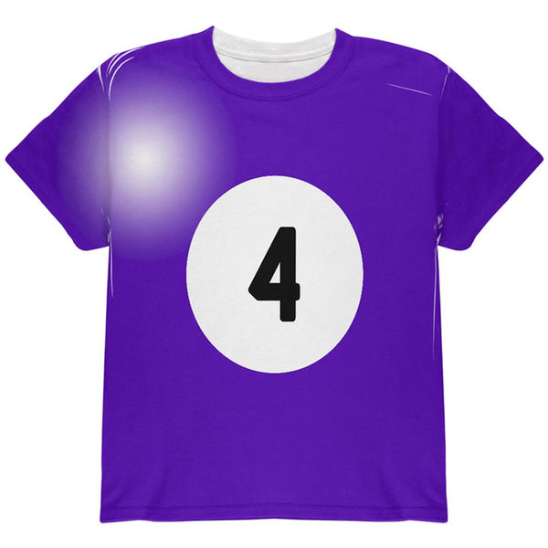Halloween Billiard Pool Ball Four Costume Youth T Shirt
