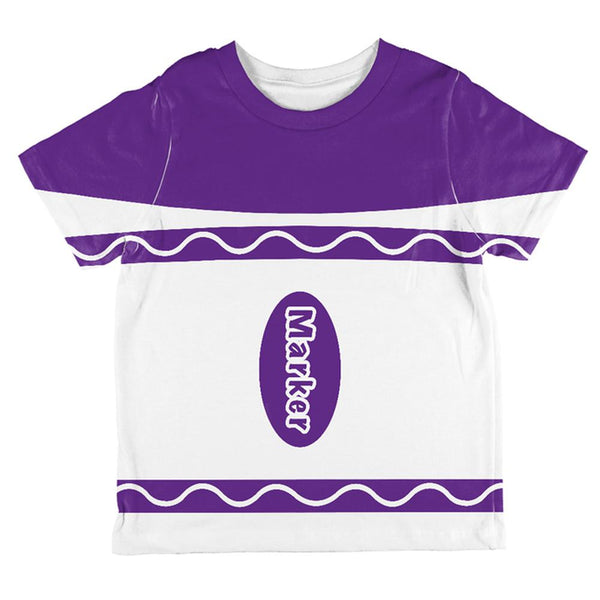 Halloween Marker Costume Purple All Over Toddler T Shirt