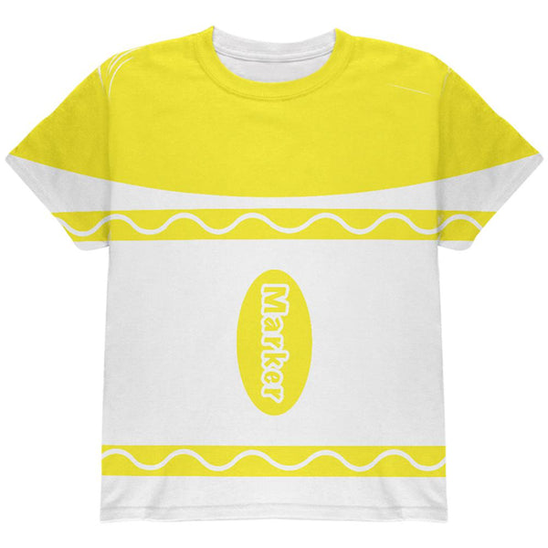 Halloween Marker Costume Yellow All Over Youth T Shirt