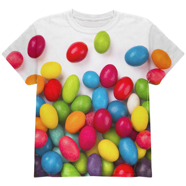 Halloween Jelly Beans All Over Youth T Shirt