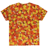 Halloween Candy Corn All Over Youth T Shirt