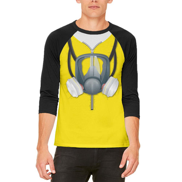 Lab Cooker Hazmat Suit Costume Mens Raglan T Shirt