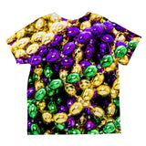 Mardi Gras Beads Costume All Over Toddler T Shirt