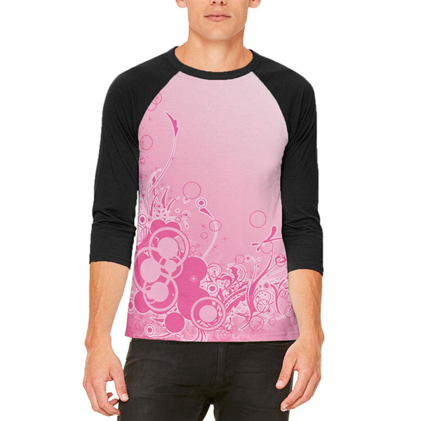 Pink Ombre Day Dream Mens Raglan T Shirt