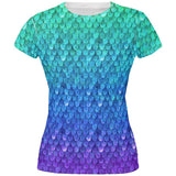 Halloween Mermaid Scales Costume All Over Juniors T Shirt