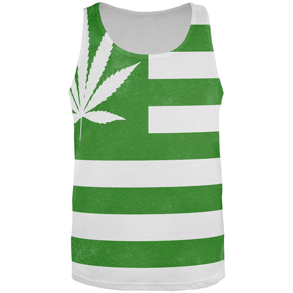 American High Pot Leaf Flag All Over Mens Tank Top