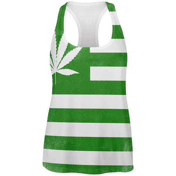 American High Pot Leaf Flag All Over Womens Work Out Tank Top