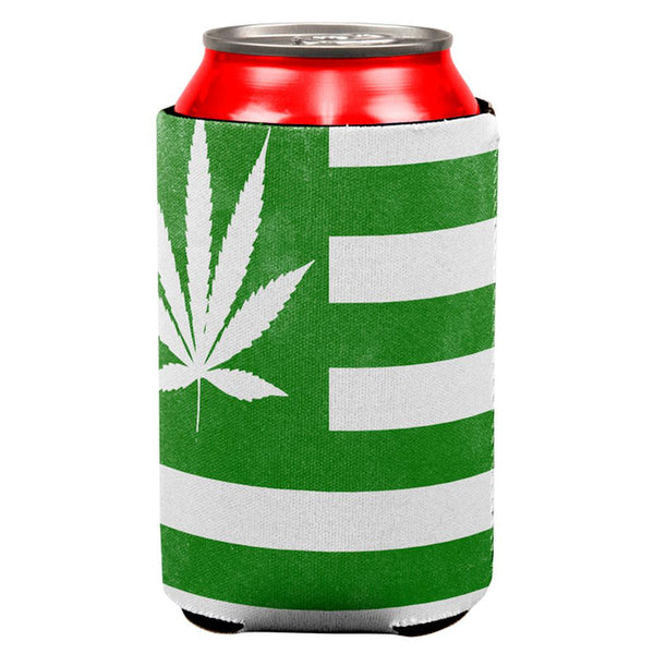 American High Pot Leaf Flag All Over Can Cooler