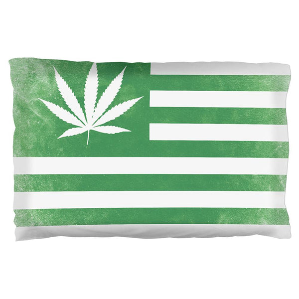 American High Pot Leaf Flag Pillow Case
