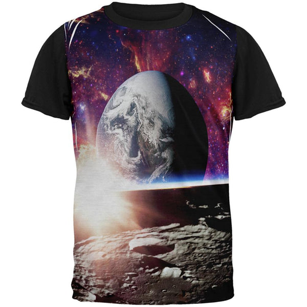 Explore The Infinity Of Space All Over Mens Black Back T Shirt