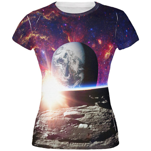 Explore The Infinity Of Space All Over Juniors T Shirt