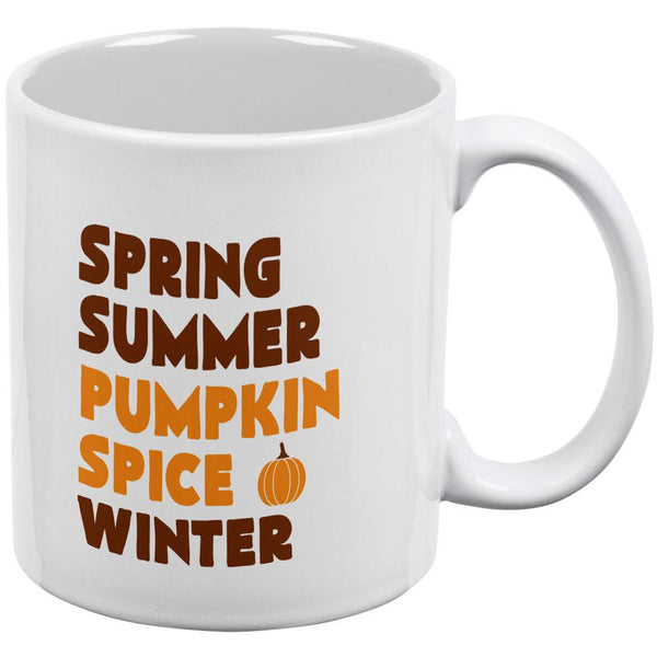 Autumn Spring Summer Pumpkin Spice All Over Coffee Mug