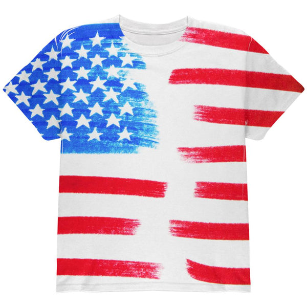 4th of July Color Me American All Over Youth T Shirt