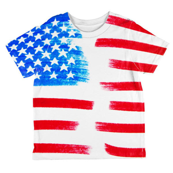 4th of July Color Me American All Over Toddler T Shirt