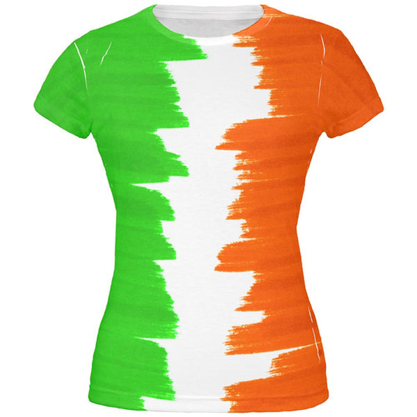 St Patrick's Day Color Me Irish All Over Juniors T Shirt