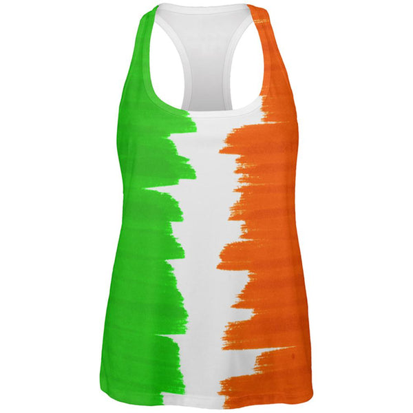 St Patrick's Day Color Me Irish All Over Womens Work Out Tank Top