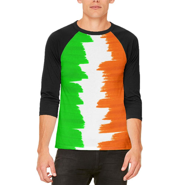 St Patrick's Day Color Me Irish Mens Raglan T Shirt