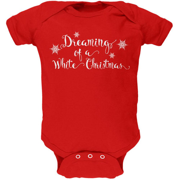 Dreaming of a White Christmas Soft Baby One Piece