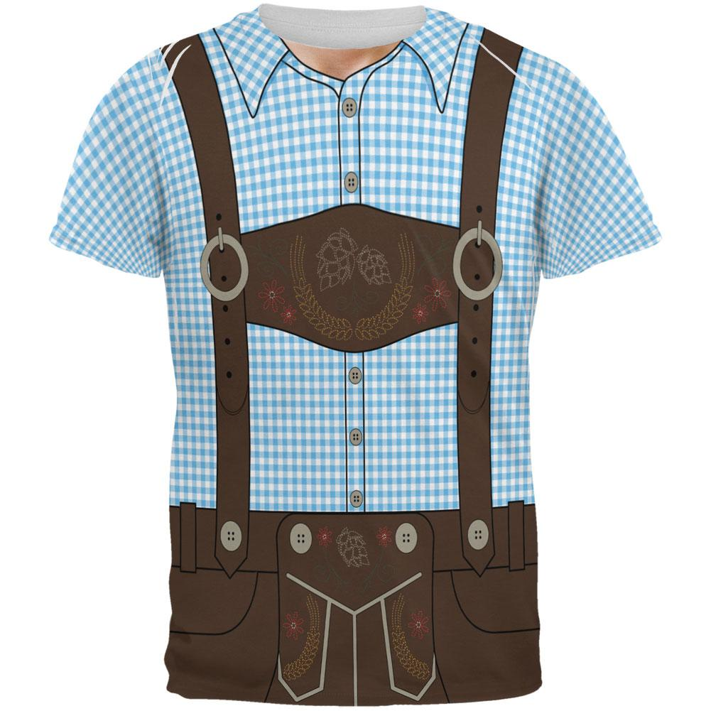 All Over German Costume Suspenders Oktoberfest Brown Lederhosen Mens vN0wm8nO