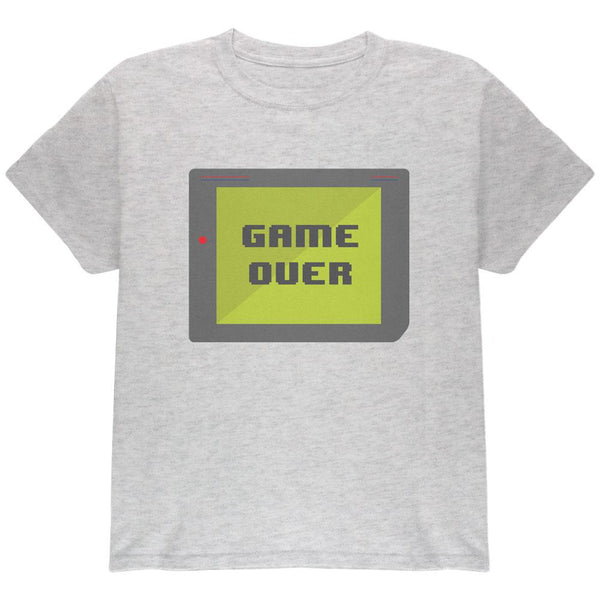 Halloween Old School Gamer Game Over Youth T Shirt